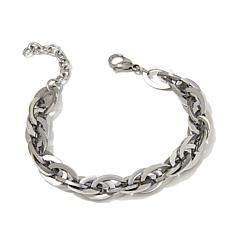 "Stately Steel Multi Oval-Link 7-1/2"" Bracelet"