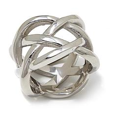Stately Steel Openwork Ring
