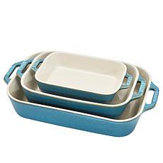 Staub Ceramic 3-Piece Rectangular Baking Dish Set