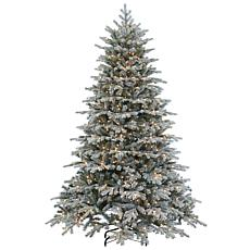 Sterling 7-1/2' Flocked Spruce Lighted Christmas Tree