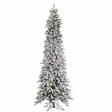 Sterling 9' Flocked Pencil Pine Lighted Christmas Tree