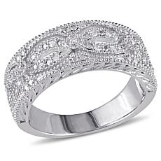 Sterling Silver 0.10ctw Diamond Vintage Ring