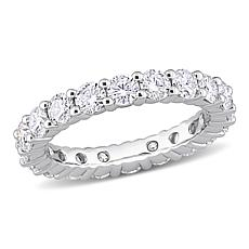 Sterling Silver 2.60ctw Moissanite Eternity Band Ring