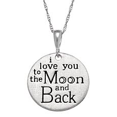 Personalized necklaces hsn sterling silver love engraved pendant aloadofball Choice Image