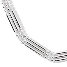 "Sterling Silver Triple Strand 18"" Necklace"