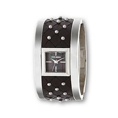 Steve Madden Black Dial Studded Bracelet Watch