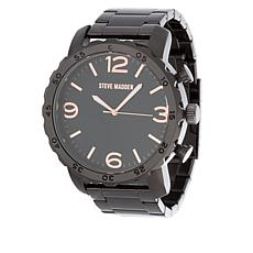 Steve Madden Men's Gunmetaltone and Rosetone-Accented Bracelet Watch