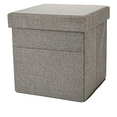 StoreSmith Multi-Functional Storage Ottoman w/Laptop Stand