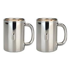 Straight 2-pack 18/10 Stainless Steel Coffee Mug