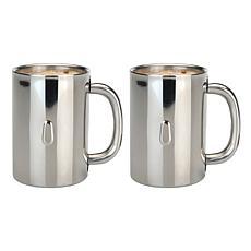 Straight 2-pack 18/10 Stainless Steel Coffee Mug