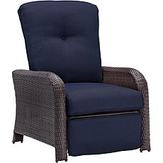 Strathmere Outdoor Reclining Arm Chair - Navy Blue