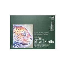 """Strathmore 400 Series 18"""" x 24"""" Toned Mixed Media Pad - Blue/15 sheets"""