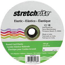 """Stretchrite Braided Elastic 144 yd x .0625"""" - Black"""