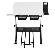 Studio Design Fusion Craft Center Table and Stool with Tray