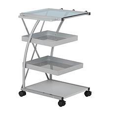 Studio Designs Triflex 4-Tier Metal Mobile Organizer Cart