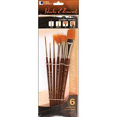 Studio Elements Short Handle Taklon 6-piece Brush Set