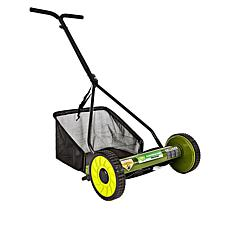 "Sun Joe® 16"" Manual Reel Mower with Grass Catcher"