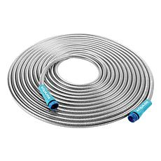 Sun Joe® 50' 0.5-inch Heavy-Duty Spiral Stainless Steel Garden Hose