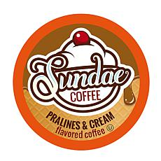 Sundae Ice Cream Flavored Coffee Pods Butter Pecan 48-Count