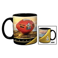Super Bowl 50 Set of 2 Ceramic Black Mugs - 11 oz.