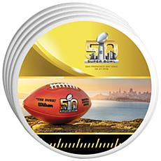 Super Bowl 50 Set of 4 Ceramic Home Coasters - 4""