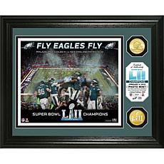 Super Bowl LII Champs Celebration Bronze Coin Photo Mint - Eagles