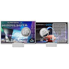 Super Bowl LII Silver Coin Card by The Highland Mint