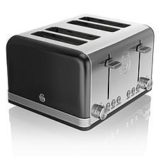 Swan Retro 4 Slice Toaster - Black