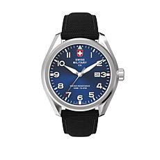"Swiss Military by Charmex Men's ""Pilot"" Blue Dial Nylon Strap Watch"