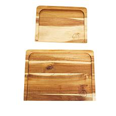 Symon Home 2-piece Acacia Wood Trencher Board Set