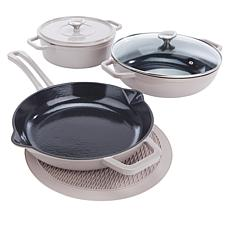 Symon Home 6-piece Enameled Cast Iron Cookware Set
