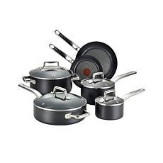 T-fal C517SA64 Pro Grade 10 Piece Cookware Set, Black