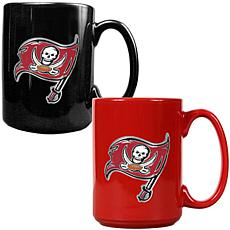 Tampa Bay Buccaneers 2pc Coffee Mug Set