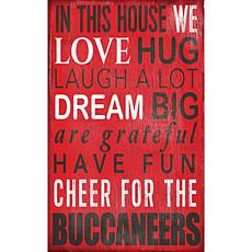 Tampa Bay Buccaneers In This House Sign