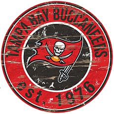 Tampa Bay Buccaneers Round Distressed Sign