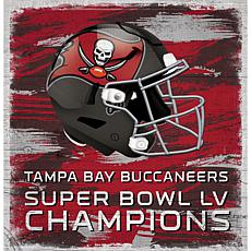 "Tampa Bay Buccaneers Super Bowl Champs 18"" x 18"" Helmet Wall Sign"