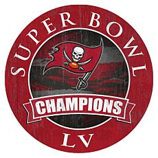 "Tampa Bay Buccaneers Super Bowl Champs 24"" Round Sign"
