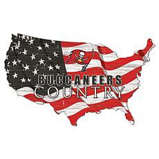 Tampa Bay Buccaneers USA Shape Flag Cutout