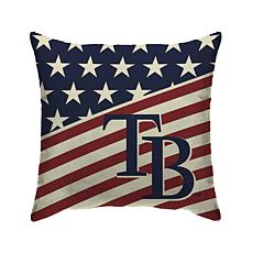 """Tampa Bay Rays 18""""X18"""" Duck Cloth  Décor Pillow"""