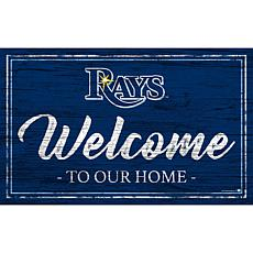 """Tampa Bay Rays Team Color Welcome Sign - 11x19"""""""