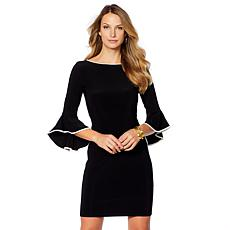 Tash + Sophie Piped Bell Sleeve Dress