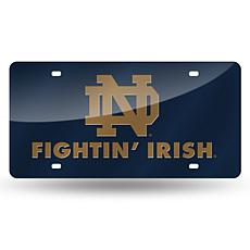 Team Colored Laser Tag License Plate-Notre Dame