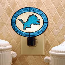Team Glass Nightlight - Detroit Lions