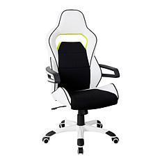 Techni Mobili Ergonomic Racing Style Office Chair - White