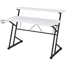 Techni Sport Computer Gaming Desk with Shelves