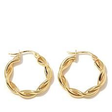 Technibond® 20mm Small  Twisted Hoop Earrings