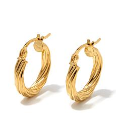 "Technibond® 5/8"" Small Twisted Hoop Earrings"