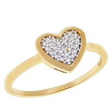 Technibond® Diamond-Accented Heart Ring