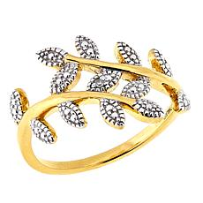 Technibond® Diamond-Accented Olive Branch Ring