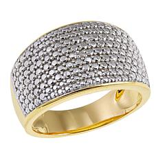 Technibond® Diamond-Accented Pavé Band Ring
